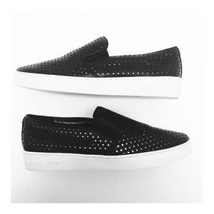 Michael Kors Keaton Perforated Star Slip Ons